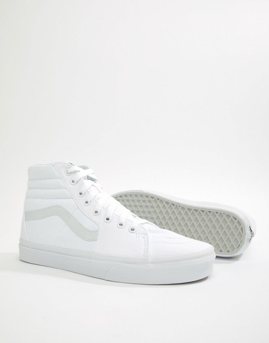 zapatillas vans mujer blancas altas