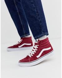 Zapatillas altas burdeos de Vans