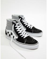 Comprar unas zapatillas altas de ante a cuadros negras