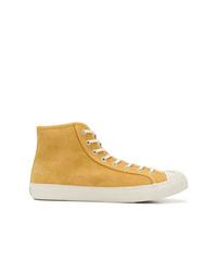 Zapatillas altas de ante amarillas de YMC