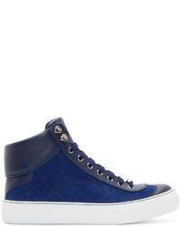 Zapatillas altas de ante azul marino