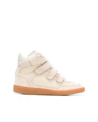 Zapatillas altas de ante en beige de Isabel Marant