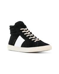 Zapatillas altas de ante en negro y blanco