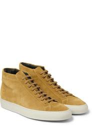 Zapatillas altas de ante marrón claro