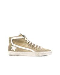 Zapatillas altas de ante marrón claro de Golden Goose Deluxe Brand