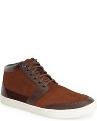 Zapatillas altas de ante marrónes