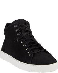 Zapatillas altas de ante negras
