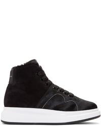 Zapatillas altas de ante negras de Alexander McQueen