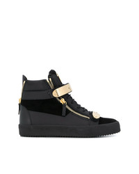 Comprar unas zapatillas altas de ante negras Giuseppe