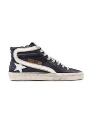 Zapatillas altas de ante negras de Golden Goose Deluxe Brand
