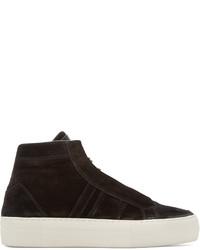 Zapatillas altas de ante negras de Helmut Lang