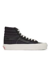 Zapatillas altas de ante negras de Vans
