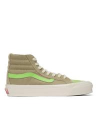 Zapatillas altas de ante verde oliva de Vans