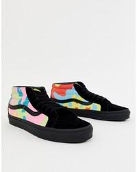 Zapatillas altas de camuflaje en multicolor de Vans