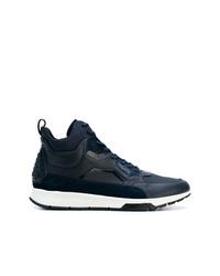 Zapatillas altas de cuero azul marino de Calvin Klein
