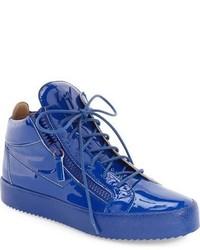 Zapatillas altas de cuero azules
