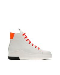 Zapatillas altas de cuero blancas de Cinzia Araia