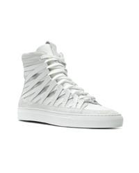 Zapatillas altas de cuero blancas de Damir Doma