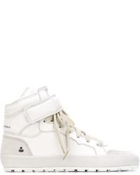 Zapatillas altas de cuero blancas de Etoile Isabel Marant