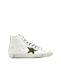 Zapatillas altas de cuero blancas de Golden Goose Deluxe Brand