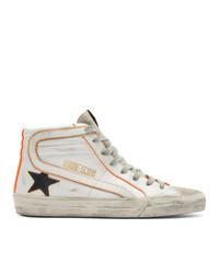 Zapatillas altas de cuero blancas de Golden Goose