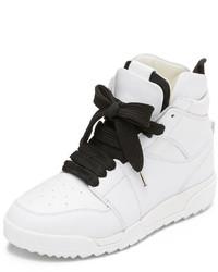 Zapatillas altas de cuero blancas de Rag & Bone
