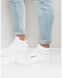 Zapatillas altas de cuero blancas de Reebok