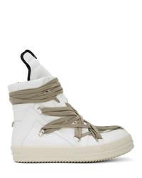 Zapatillas altas de cuero blancas de Rick Owens