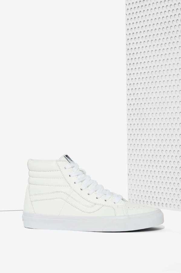 Zapatillas Altas de Cuero Blancas de Vans