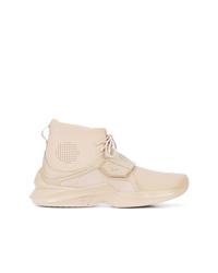Zapatillas altas de cuero en beige de Fenty X Puma