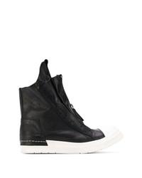 Zapatillas altas de cuero en negro y blanco de Cinzia Araia