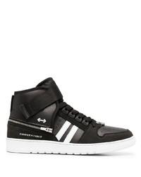 Zapatillas altas de cuero en negro y blanco de Neil Barrett