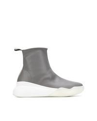 Zapatillas altas de cuero grises de Stella McCartney