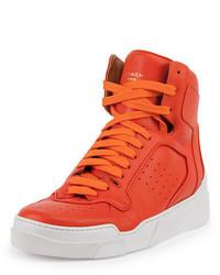 Zapatillas altas de cuero naranjas