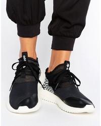 Zapatillas altas de cuero negras de adidas
