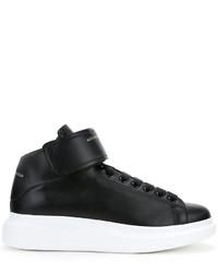Zapatillas altas de cuero negras de Alexander McQueen