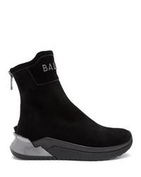 Zapatillas altas de cuero negras de Balmain