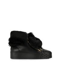 Zapatillas altas de cuero negras de Blumarine