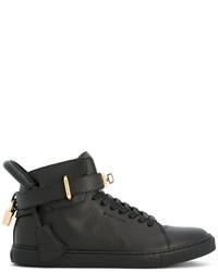 Zapatillas altas de cuero negras de Buscemi