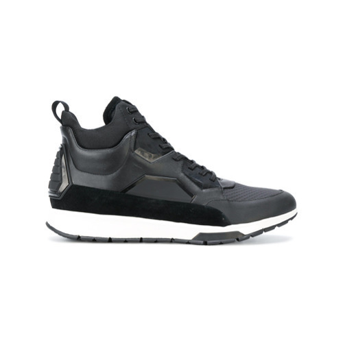 777ffe22490e3 ... Zapatillas altas de cuero negras de Calvin Klein ...