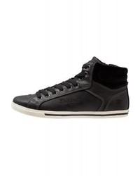 Zapatillas altas de cuero negras de Dockers by Gerli