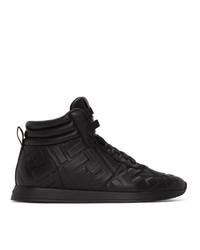 Zapatillas altas de cuero negras de Fendi