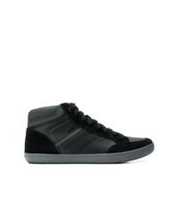 Zapatillas altas de cuero negras de Geox