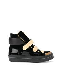 Zapatillas altas de cuero negras de Giuseppe Zanotti Design