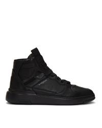 Zapatillas altas de cuero negras de Givenchy
