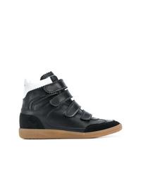 Zapatillas altas de cuero negras de Isabel Marant