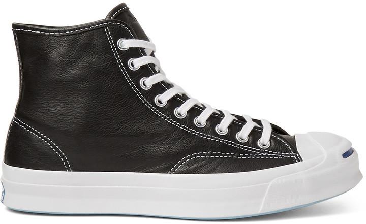 converse leather negras