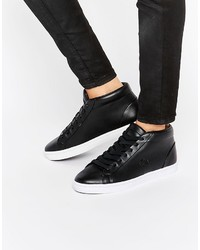 Zapatillas Altas de Cuero Negras de Lacoste