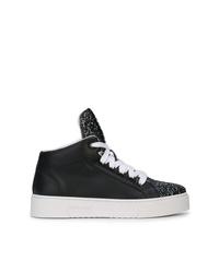 Zapatillas altas de cuero negras de Miu Miu