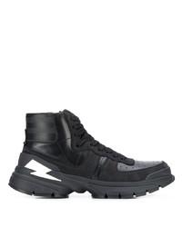 Zapatillas altas de cuero negras de Neil Barrett